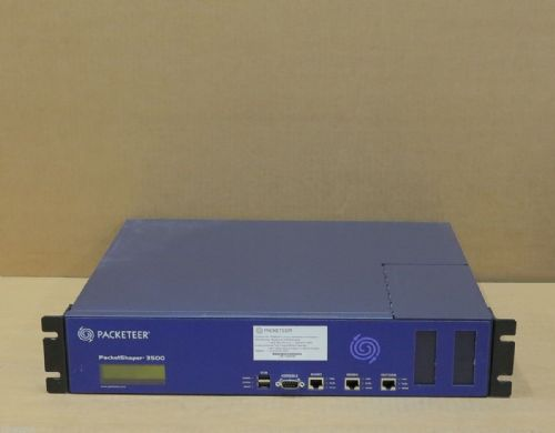 Packeteer PacketShaper 3500 PS3500 Network Performance Load Balancer Appliance